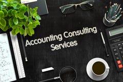 Concetto di stima di servizi consultivi 3d rendono Immagine Stock