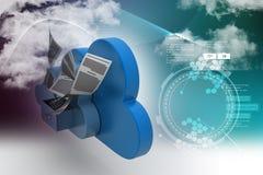 Concetto di stoccaggio della nuvola Fotografia Stock