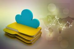 Concetto di stoccaggio della nuvola Fotografie Stock
