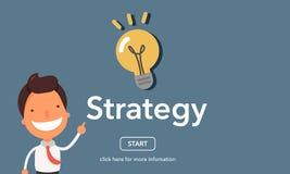 Concetto di strategia alla pagina del sito Web Fotografia Stock