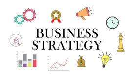 Concetto di strategia aziendale royalty illustrazione gratis