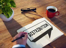 Concetto di strategia del distributore commerciale di vendita di vendita di distribuzione immagine stock libera da diritti