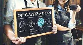 Concetto di strategia di crescita del business plan di organizzazione immagini stock