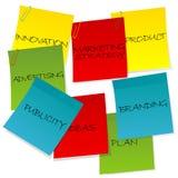 Concetto di strategia di marketing Fotografie Stock