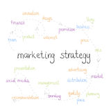 Concetto di strategia di marketing Immagini Stock