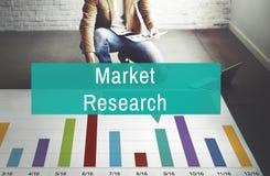 Concetto di strategia di marketing del consumatore di analisi di ricerca di mercato fotografia stock libera da diritti