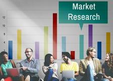 Concetto di strategia di marketing del consumatore di analisi di ricerca di mercato fotografia stock