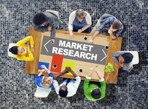 Concetto di strategia di soluzione dell'istogramma di analisi di ricerca di mercato fotografia stock