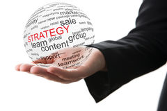 Concetto di strategia nel commercio Immagini Stock Libere da Diritti