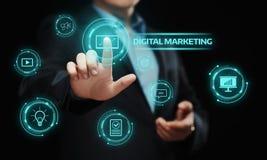 Concetto di strategia di pubblicità di pianificazione del contenuto di vendita di Digital fotografie stock