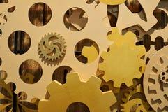 Concetto di struttura di legno del meccanismo dell'attrezzatura di lavoro Fotografie Stock