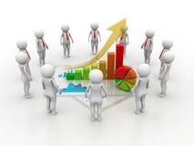 Concetto di successo di affari rappresentazione 3d illustrazione vettoriale
