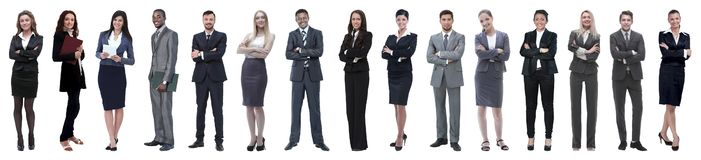 Concetto di successo - collage con molta gente di affari immagini stock