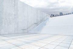 Concetto di successo con le scale concrete illustrazione di stock