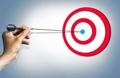 Concetto di successo dell'obiettivo di affari facile Fotografia Stock Libera da Diritti