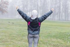 Concetto di successo della donna di forma fisica Immagine Stock