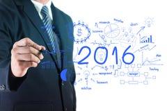 Concetto 2016 di successo di affari Immagini Stock Libere da Diritti
