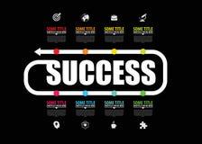 Concetto di successo di affari Modello di progettazione di Infographic Vettore royalty illustrazione gratis