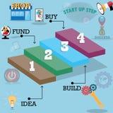 Concetto di successo di affari, punto infographic a successo - vettore Fotografia Stock