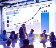 Concetto di successo di finanza di analisi dei dati di statistiche fotografia stock