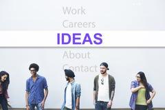 Concetto di successo di pensiero creativo di idee Fotografia Stock Libera da Diritti