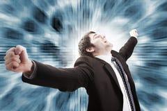Concetto di successo e di vittoria nel commercio Fotografia Stock Libera da Diritti