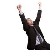 Concetto di successo e di vittoria nel commercio Immagini Stock Libere da Diritti