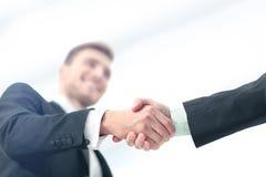 Concetto di successo nell'affare - stretta di mano dei partner Immagini Stock Libere da Diritti