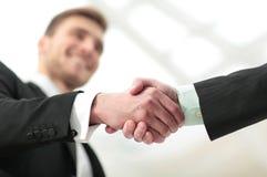 Concetto di successo nell'affare - stretta di mano dei partner Immagine Stock Libera da Diritti