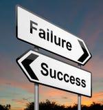 Concetto di successo o di guasto. Fotografia Stock