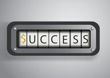 Concetto di successo su contro rotolo Immagine Stock