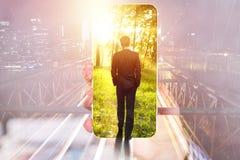 Concetto di successo, di tecnologia e di occupazione immagini stock