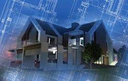 Concetto di sviluppo della nuova casa Fotografia Stock Libera da Diritti