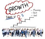 Concetto di sviluppo di scopo di idee di pianificazione di crescita immagine stock