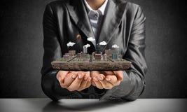 Concetto di sviluppo urbano moderno Fotografia Stock Libera da Diritti