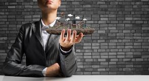 Concetto di sviluppo urbano moderno Immagini Stock Libere da Diritti