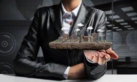 Concetto di sviluppo urbano moderno Fotografie Stock Libere da Diritti