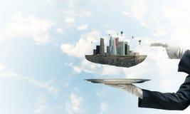 Concetto di sviluppo urbano moderno Immagine Stock Libera da Diritti