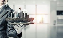 Concetto di sviluppo urbano moderno Immagine Stock