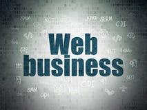 Concetto di sviluppo Web: Affare di web sul fondo della carta di dati di Digital Fotografie Stock Libere da Diritti