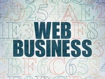 Concetto di sviluppo Web: Affare di web sul fondo della carta di dati di Digital Immagine Stock
