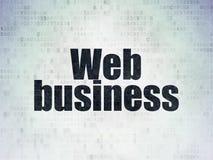 Concetto di sviluppo Web: Affare di web sul fondo della carta di dati di Digital Immagini Stock Libere da Diritti