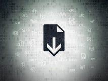 Concetto di sviluppo Web: Download sul fondo della carta di dati di Digital Immagini Stock Libere da Diritti