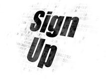 Concetto di sviluppo Web: Firmi su sul fondo di Digital Fotografia Stock Libera da Diritti