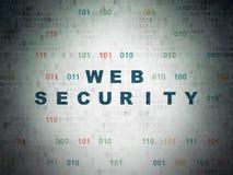 Concetto di sviluppo Web: Sicurezza di web sul fondo della carta di dati di Digital Fotografia Stock Libera da Diritti