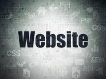 Concetto di sviluppo Web: Sito Web sul fondo della carta di dati di Digital Immagini Stock