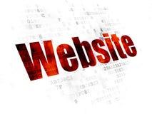 Concetto di sviluppo Web: Sito Web sul fondo di Digital Fotografie Stock