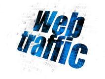 Concetto di sviluppo Web: Traffico di web sul fondo di Digital Immagini Stock Libere da Diritti