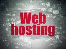 Concetto di sviluppo Web: Web hosting su Digital Immagini Stock Libere da Diritti