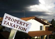 Concetto di tasse della proprietà Fotografia Stock Libera da Diritti